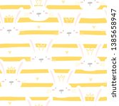 seamless pattern with cute... | Shutterstock .eps vector #1385658947