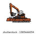 excavator logo template vector. ... | Shutterstock .eps vector #1385666054