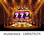 king slots 777 banner casino on ... | Shutterstock .eps vector #1385675174