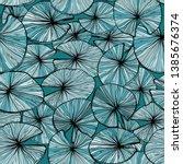 seamless monochrome pattern... | Shutterstock .eps vector #1385676374