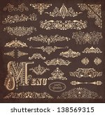 vector collection of detailed... | Shutterstock .eps vector #138569315