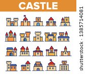castle  medieval buildings... | Shutterstock .eps vector #1385714081