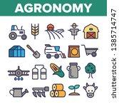 agronomy industry vector thin... | Shutterstock .eps vector #1385714747