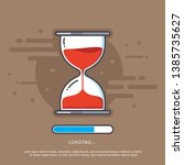 hourglass vector. cartoon style ...