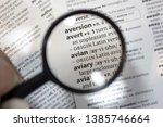 the word of phrase   avian   in ... | Shutterstock . vector #1385746664