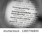 Small photo of Word or phrase inequitable in a dictionary.