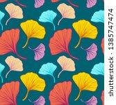 beautiful bright seamless... | Shutterstock .eps vector #1385747474
