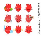 Cute Human Heart Organ Set....