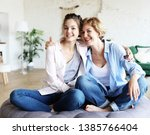 lifestyle  family and people... | Shutterstock . vector #1385766404