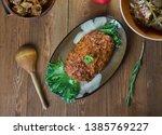 belgian meatloaf  belgian...   Shutterstock . vector #1385769227