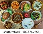 belgian national  cuisine ...   Shutterstock . vector #1385769251