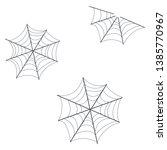 spiderweb vector. spooky corner ...   Shutterstock .eps vector #1385770967