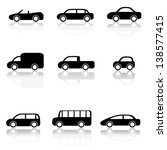 car icons set  vector... | Shutterstock .eps vector #138577415