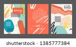 set of abstract universal...   Shutterstock .eps vector #1385777384