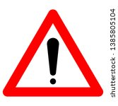 warning someone to avoid... | Shutterstock .eps vector #1385805104