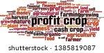 profit crop word cloud concept. ... | Shutterstock .eps vector #1385819087