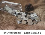 saving money  thai money in the ... | Shutterstock . vector #1385830151