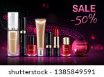 cosmetics beauty products for... | Shutterstock .eps vector #1385849591