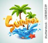 summer illustration | Shutterstock .eps vector #138585239