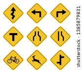 road sign collection drawing by ... | Shutterstock .eps vector #1385879831