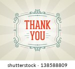 thank you message and antique... | Shutterstock .eps vector #138588809
