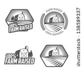 farm raised labels and badges | Shutterstock .eps vector #138589337
