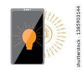 smartphone with a lightbulb...