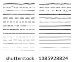 lines hand drawn vector set... | Shutterstock .eps vector #1385928824