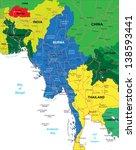 burma map   Shutterstock .eps vector #138593441