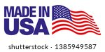 made in the usa badge isolated... | Shutterstock .eps vector #1385949587