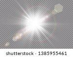 vector transparent sunlight... | Shutterstock .eps vector #1385955461