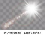 vector transparent sunlight... | Shutterstock .eps vector #1385955464