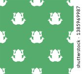 Silhouette Of A White Frog On ...