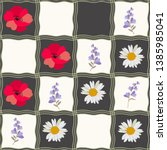 Seamless Checkered Pattern With ...