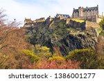 edinburgh castle framed by...   Shutterstock . vector #1386001277