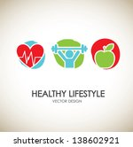 healthy lifestyle icons over... | Shutterstock .eps vector #138602921