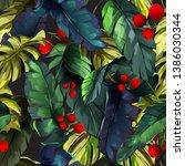 vintage seamless background... | Shutterstock .eps vector #1386030344