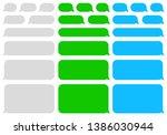 speech bubbles message. sms....   Shutterstock .eps vector #1386030944