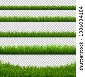 green grass big borders... | Shutterstock . vector #1386034184