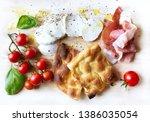 italian antipasti  cheese... | Shutterstock . vector #1386035054