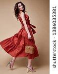 pretty beautiful sexy elegance... | Shutterstock . vector #1386035381