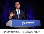 Small photo of Boeing Chief Executive Officer Dennis Muilenburg speaks at a press conference after the Boeing Annual General Meeting in Chicago, Illinois, U.S. April 29, 2019.