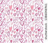 hearts seamless pattern.... | Shutterstock . vector #1386046961