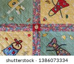 1930s reproduction patchwork... | Shutterstock . vector #1386073334