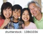 grandparents posing with... | Shutterstock . vector #13861036