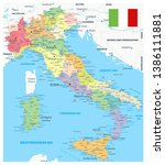 italy administrative divisions... | Shutterstock .eps vector #1386111881