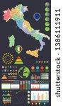 italy map and infographics... | Shutterstock .eps vector #1386111911