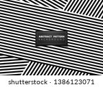abstract black and white op art ... | Shutterstock .eps vector #1386123071