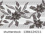 indonesian batik motif  batik...   Shutterstock .eps vector #1386124211