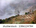 samaba rice terrace fields in... | Shutterstock . vector #1386124784
